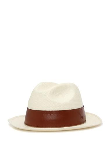 Doria Doria  Bant Detaylı Erkek Hasır Şapka 101523384 Yeşil